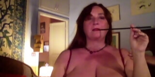 Augusta- Blindfold, hood , fucking and toy orgasm