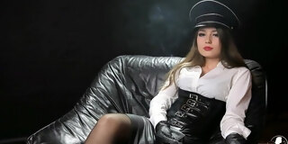 Smoking in Leather gloves compilation