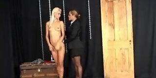 Tramp bound and dildo fucked in fuck holes