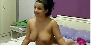 Horny Chubby Latina Plays with her Pussy on Cam
