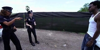 Naked police women planted weed to punish with blowjob