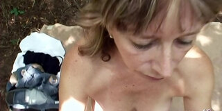 Mature Grandma Seduced to Outdoor Fuck by Teen on Way Home