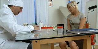 Hot young Dulsineya fucked by dirty old doctor
