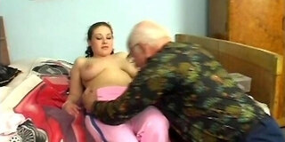 busty michaela debut with grandpa mireck