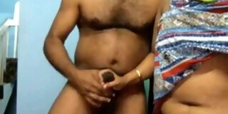 Desi couple Live cuckold session with Bull Part 2